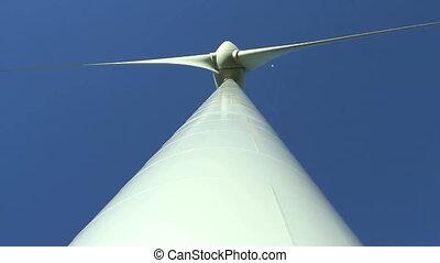 Low angle on wind turbine