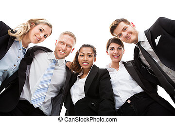 Low Angle Portrait Of Business People