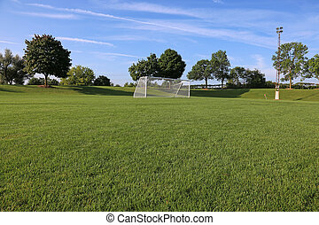 Low Angle Soccer Field
