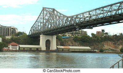 Low Angle Story Bridge - Low angle timelapse from under the...