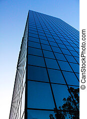 Low angle view of a glass building