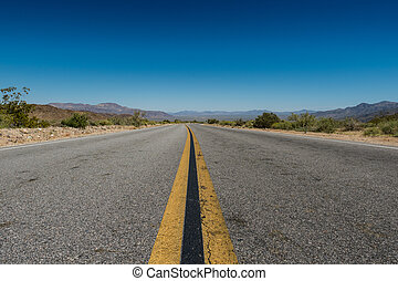 Low Angle View of Desert Road