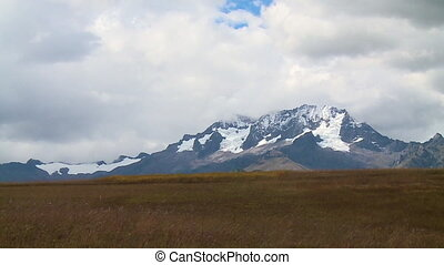 Low-Angle View Of Glacier Mountain, Andes, Peru - Wide...