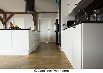 Low angle view of kitchen