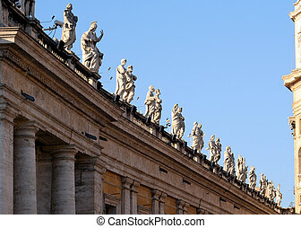 Low angle view of statues