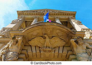 portal of the Palais du Rhin in Strasbourg, France