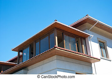 upper floors of a large house