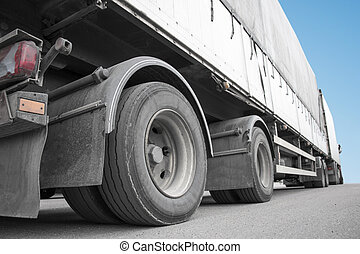 Low angle viiew of truck