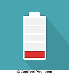 low battery icon- vector illustration