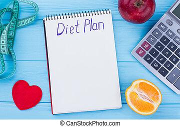 low-calorie, diet., fruta