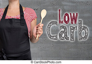 Low Carb concept is shown by cook