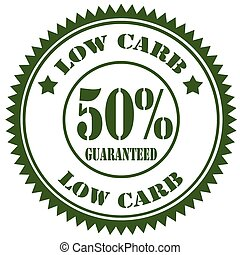 Low Carb - Rubber stamp with text Low Carb,vector...