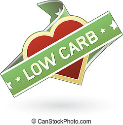 Low carb labels sticker for food product packaging, print...