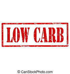 Low Carb-stamp - Grunge rubber stamp with text Low...