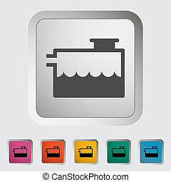 Low coolant indicator. Single icon. Vector illustration.