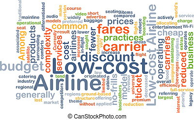 Low-cost airline background concept