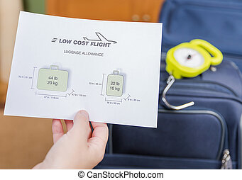 Low cost airlines luggage restrictions and baggage ready to...