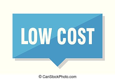 low cost price tag - low cost blue square price tag