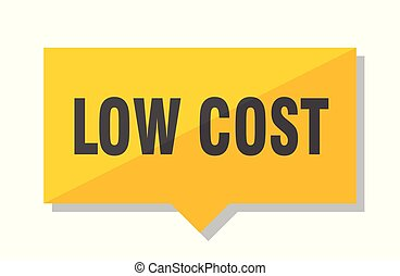 low cost price tag - low cost yellow square price tag