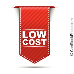 low cost, red vector low cost, banner low cost