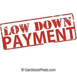 Low down payment - Rubber stamp with text low down payment...