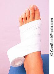 functional bandage tibial tarsal