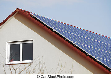 Low-Energy House - Photovoltaic Installation on a low-energy...