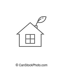 Low energy house thin line icon.