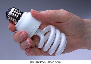 Low Energy Lightbulb - Low Energy Fluorescent Lightbulb