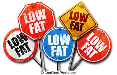 low fat, 3D rendering, street signs