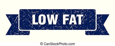 low fat grunge ribbon. low fat sign. low fat banner
