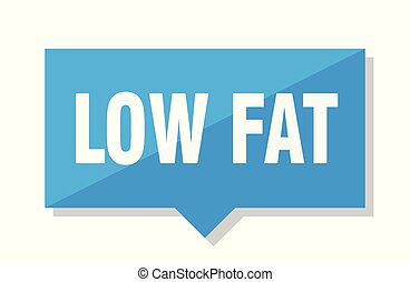 low fat price tag - low fat blue square price tag