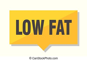 low fat price tag - low fat yellow square price tag