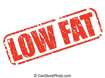 Low fat red stamp text