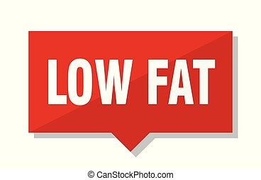 low fat red tag - low fat red square price tag