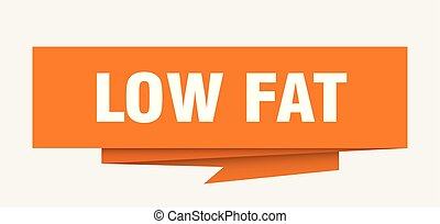 low fat sign. low fat paper origami speech bubble. low fat ...