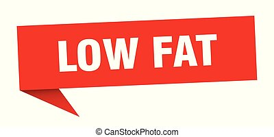 low fat speech bubble. low fat sign. low fat banner
