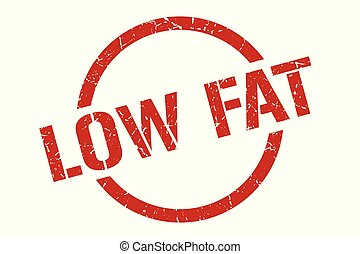 low fat stamp - low fat red round stamp