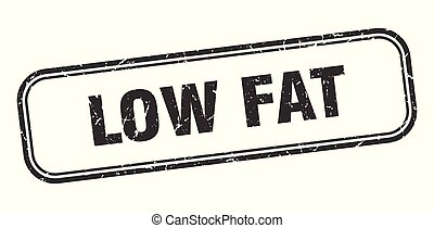 low fat stamp. low fat square grunge sign. low fat