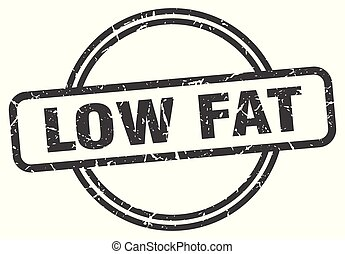 low fat vintage stamp. low fat sign