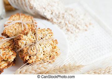 low-fat whole-grain cookies, sweet food