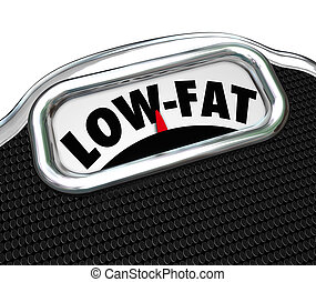 Low-Fat Words Scale Nutritional Food Choice Snacks - Low-Fat...