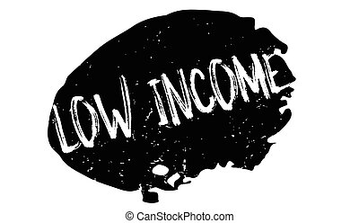 Low Income rubber stamp