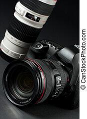 digital SLR camera - low key professional digital SLR camera