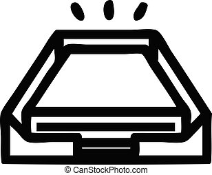 low office paper stack icon