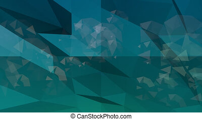 Low poly abstract background. Loop animation.