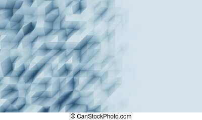 Low poly abstract light blue polygonal modern motion background. 4K seamless loopable animation, ProRes