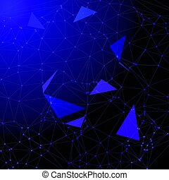 low poly abstract with connecting dots 1804