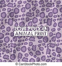 low poly animal print design, vector illustration eps10 ...