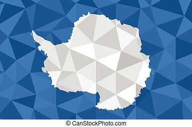 Low poly Antarctica flag vector illustration. Triangular Antarctic flag graphic. Antarctica country flag is a symbol of independence.